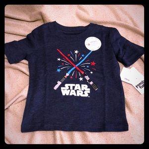 Star Wars tee, size 12 months